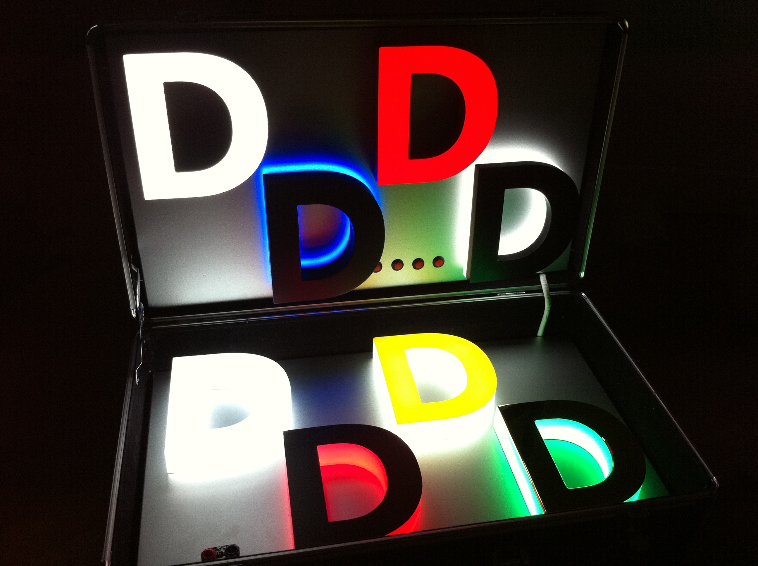 job reference arcadialed With led letter sign