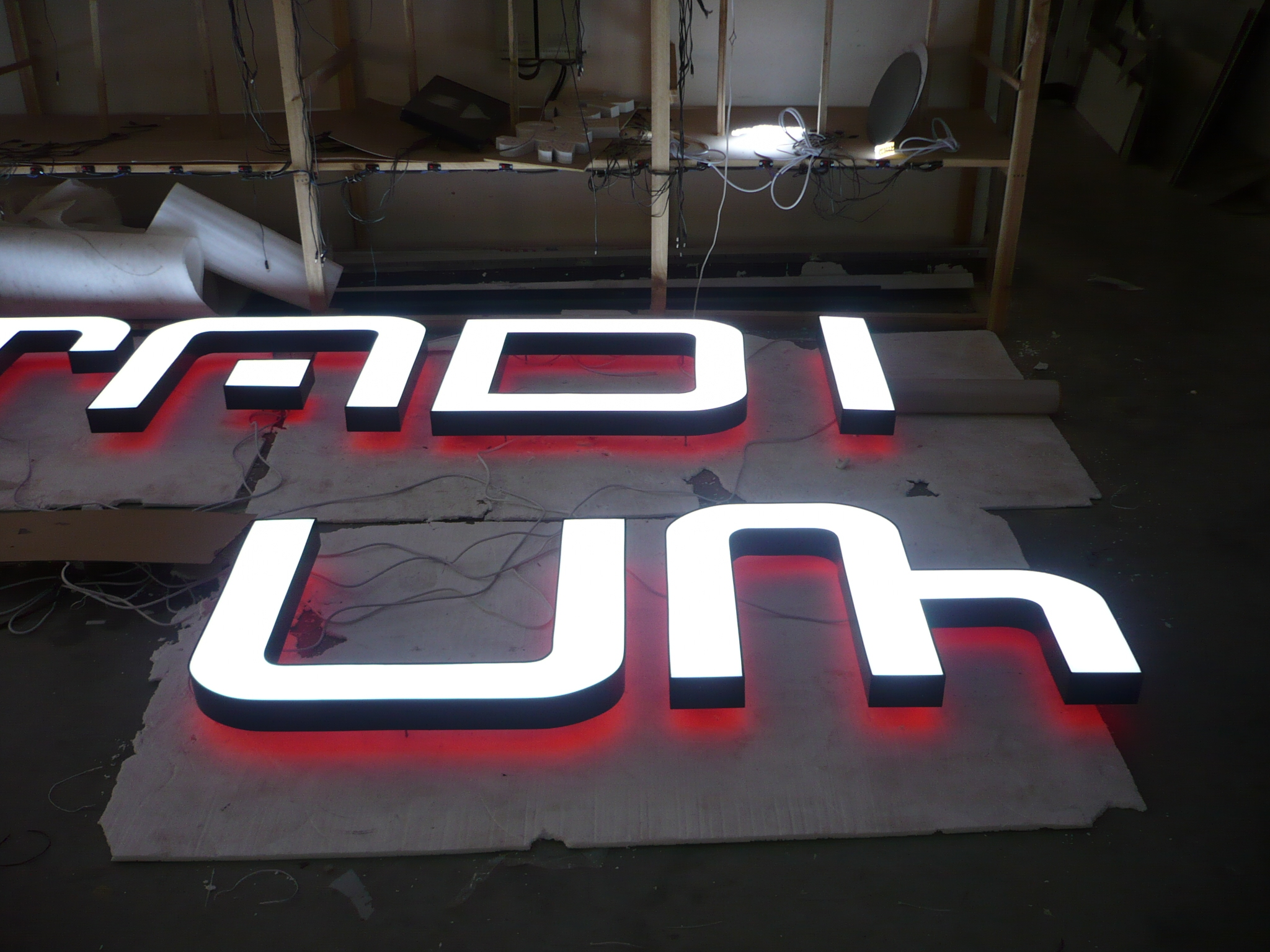 front and back lit led channel letter