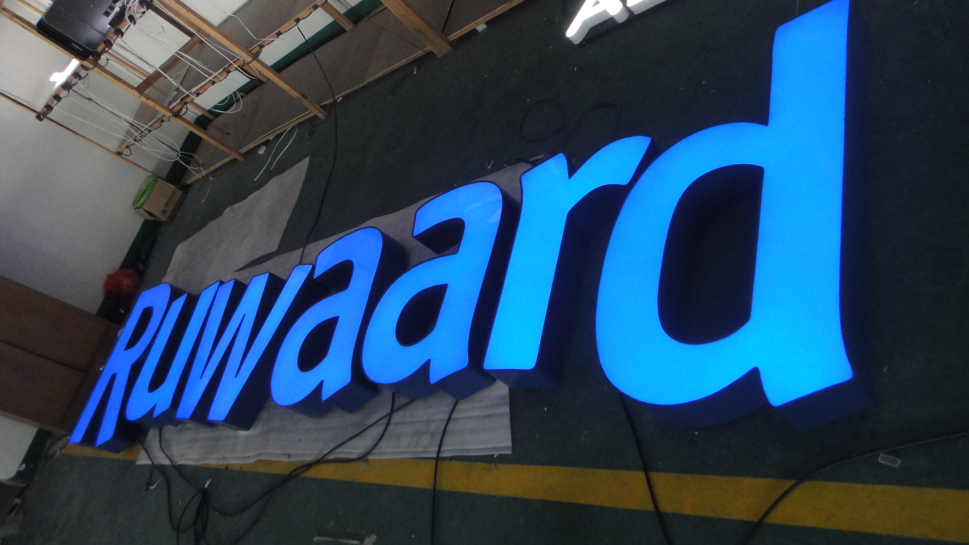 front lit led channel letter front illuminated